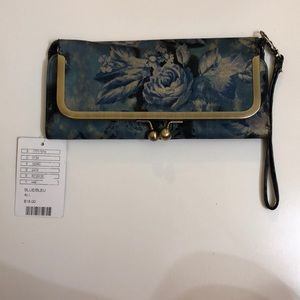 Urban Outfitters Navy Floral clutch